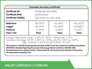 Inbuilt Calibration Certificate Vacker Maldives