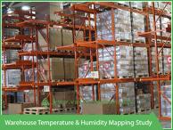 Warehouse temperature and humidity mapping study - Vacker Maldives